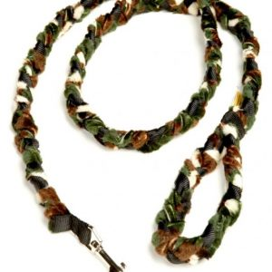 Braided Camo Fur Snap Leash