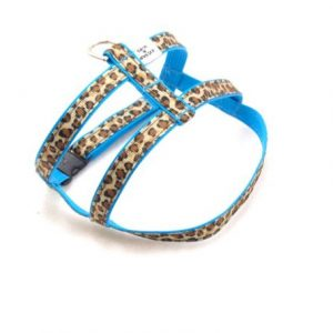 Turquoise Leopard Dog Harness