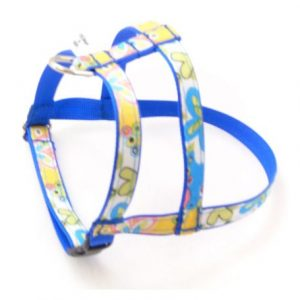 Caribbean Blue Splash Dog Harness