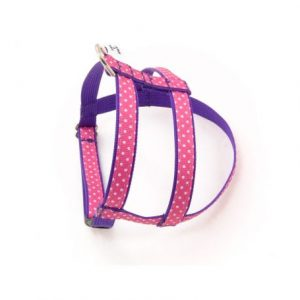 Sunrise Pink Polka Dot Dog Harness