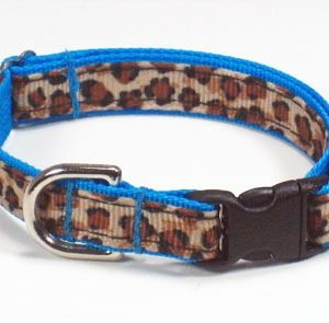 Turquoise Leopard Dog Collar