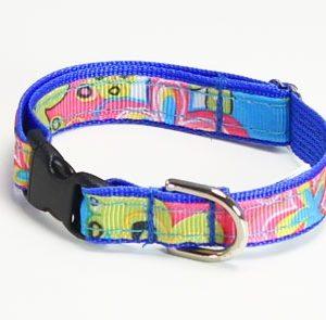 Caribbean Blue Splash Cat Collar