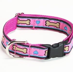 Pink Puppy Love Dog Collar