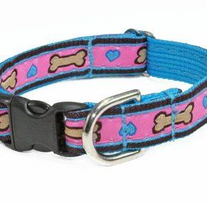 Tahitian Turquoise Hearts Cat Collar