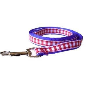 American Blue Gingham Leashes