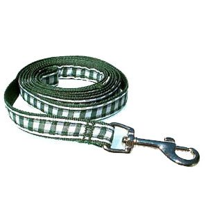 Green Gingham Leashes