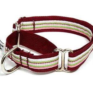 Retro Cherry Twist Martingale Dog Collars
