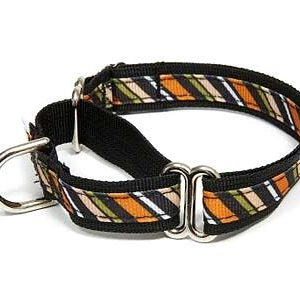 Wall Street Stripe Martingale Dog Collars