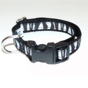 Midnight Zebra Cat Collar