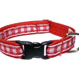 Red Gingham Breakaway Cat Collar