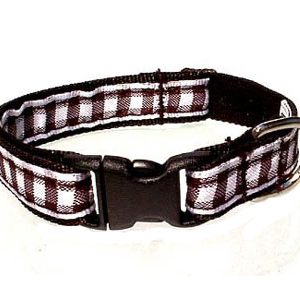 Black & White Gingham Breakaway Cat Collar