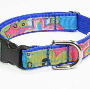 Caribbean Blue Splash Dog Collar