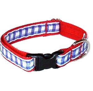 All American Red Gingham Cat Collar