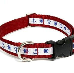 Marina Nautical Dog Collar