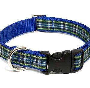 MacLeod Blue Plaid Dog Collar