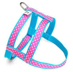 Seaside Polka Dot Pink Dog Harness