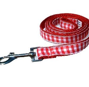Red Gingham Leashes
