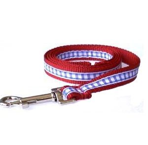 American Red Gingham Leashes