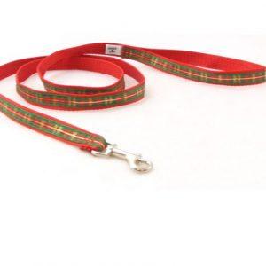 Highlands Holidays Plaid Dog Leash