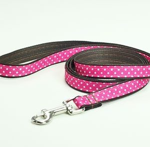 Chocolate Cherry Polka Dot Leash