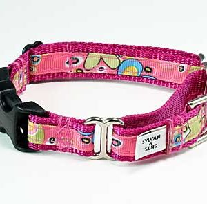 Caribbean Coral Pink Buckle Martingale Collar