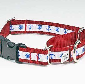 Marina Nautical Buckle Martingale Dog Collar