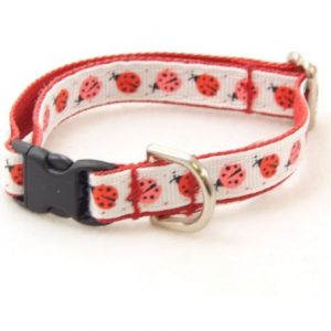 Red Ladybug Dog Collar