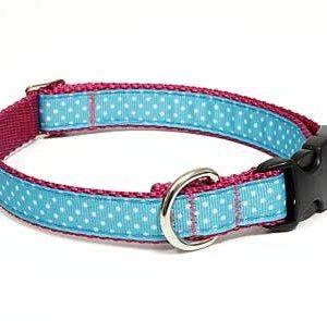 Sanibel Polka Dot Pink Dog Collar