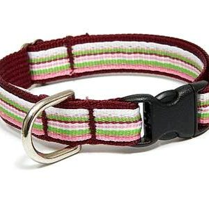 Retro Cherry Twist Dog Collar
