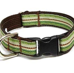 Retro Chocolate Mint Dog Collar