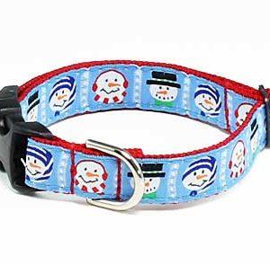 Cool Snowmen Holiday Dog Collar