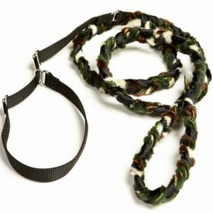 Braided Fur Leash Camo